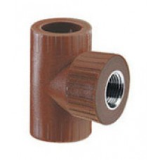 "HIDRO 3 FR METALICA TEE RED CENTRAL 3/4"" X 1/2"" FRH MET."