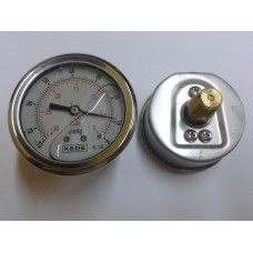 VACUOMETRO POSTERIOR DE ACERO INOXIDABLE CON GLICERINA DIAMETRO 100MM ESCALA 0 A -76 CMHG