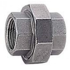 UNION DOBLE DE ACERO INOXIDABLE 316 ROSCA BSPT H-H 1""