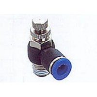 "RACORD INSTANTANEO REGULADOR DE CAUDAL ACODADO 1/4"" X 8MM"