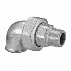 CODO GALVANIZADO CON UNION DOBLE MACHO 3/4""